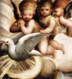 Parmigianino: battesimo di Gesù Cristo. Particolare dello Spirito Santo in forma di colomba