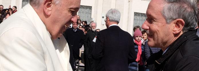 papa francesco e marco mazzi