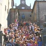 foto di gruppo al pellegrinaggio
