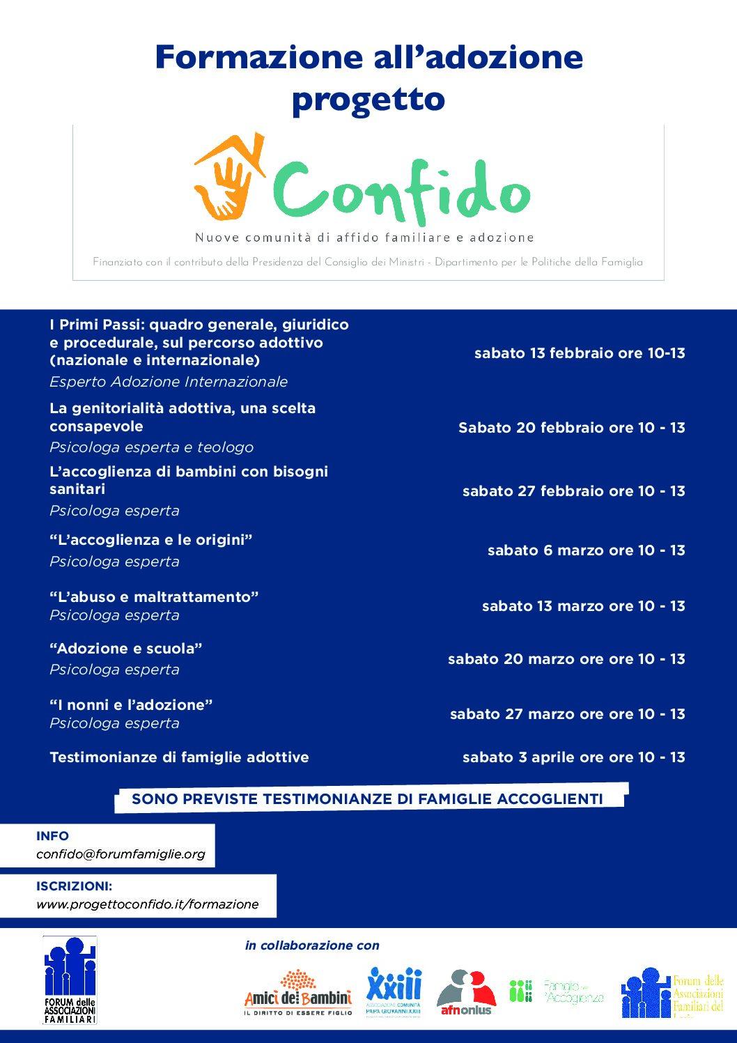 Locandina Confido Lazio adozione